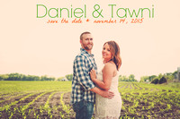 Tawni & Daniel's Engagement Portraits in Perry, KS