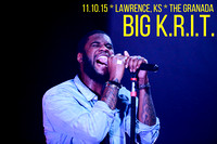 Big K.R.I.T. w/ BJ the Chicago Kid Concert Photos Granada Theater Lawrence, KS