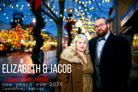 Elizabeth & Jacob {Lawrence Engagement Portraits}