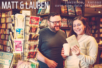 Lauren & Matt's Downtown Lawrence Engagement Portraits