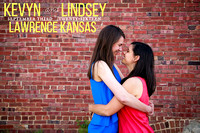 Kevyn & Lindsey's Engagement Portraits Lawrence, KS