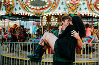 Chloe & Korey's Engagement Portraits at the Dg. County Fair