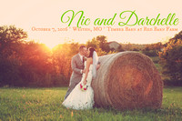 Darchelle & Nic {KC Wedding Photos at the Weston Red Barn Farm Timber Barn}