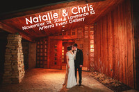 Natalie & Chris {Lawrence, KS wedding photography + Arterra Event Gallery}