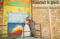 Nick & Kendall {Lawrence, KS wedding photography + South Park + Private Residence}