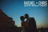 Rachel & Chris {Lawrence KS Wedding Photos + Cider Gallery + KU Alumni Center}