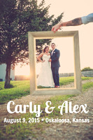 Carly & Alex {Lawrence KS Wedding Photography + Chrisman Manor}