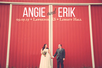Angie & Erik {Lawrence KS Wedding Photos + Liberty Hall & South Park}