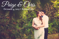 Paige & Chris' Shawnee Mission, KS Wedding Photography + The Pavilion at The Theatre in the Park}