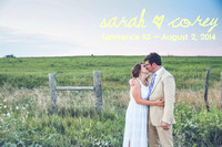 Sarah & Corey {Lawrence KS wedding photography + Circle S Ranch}