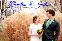 Christine & Justin {Lawrence, KS courthouse wedding photography}