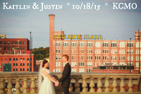 Kaitlin & Justin { Kansas City MO Wedding Photos + Skyline Room at 2000 Grand}
