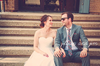 Jim & Jillian {Lawrence Kansas Downtown Wedding Photos + Abe & Jake's Landing}