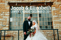 Elizabeth & Jacob {Lawrence KS New Years Eve Wedding + Cider Gallery + Eldridge}