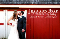 Jean & Brad {Lawrence KS Wedding Photography + Circle S Ranch}