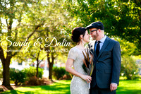 Sandy and Dalin's Lawrence Wedding at the Train Depot