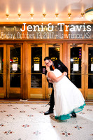 Jeni & Travis's Lawrence KS Wedding Photos at Liberty Hall