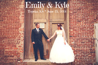 Emily & Kyle {Topeka, KS wedding photography + Goodyear Shelter House}