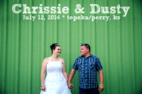 Chrissie & Dusty {Topeka, KS Wedding Photography +  Rose Garden + American Legion in Perry, KS}