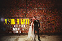 Austin & Matt {Lawrence, KS wedding photography + Liberty Hall