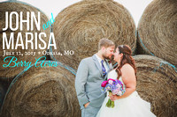 Marisa & John {Odessa, MO wedding photography + Berry Acres}