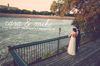 Cara & Mike {Lawrence, KS Wedding Photos + Abe & Jake's Landing}