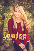Louise's Senior Portraits Class of 2016