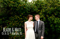 Blaire & Matt {Newton KS wedding photography}
